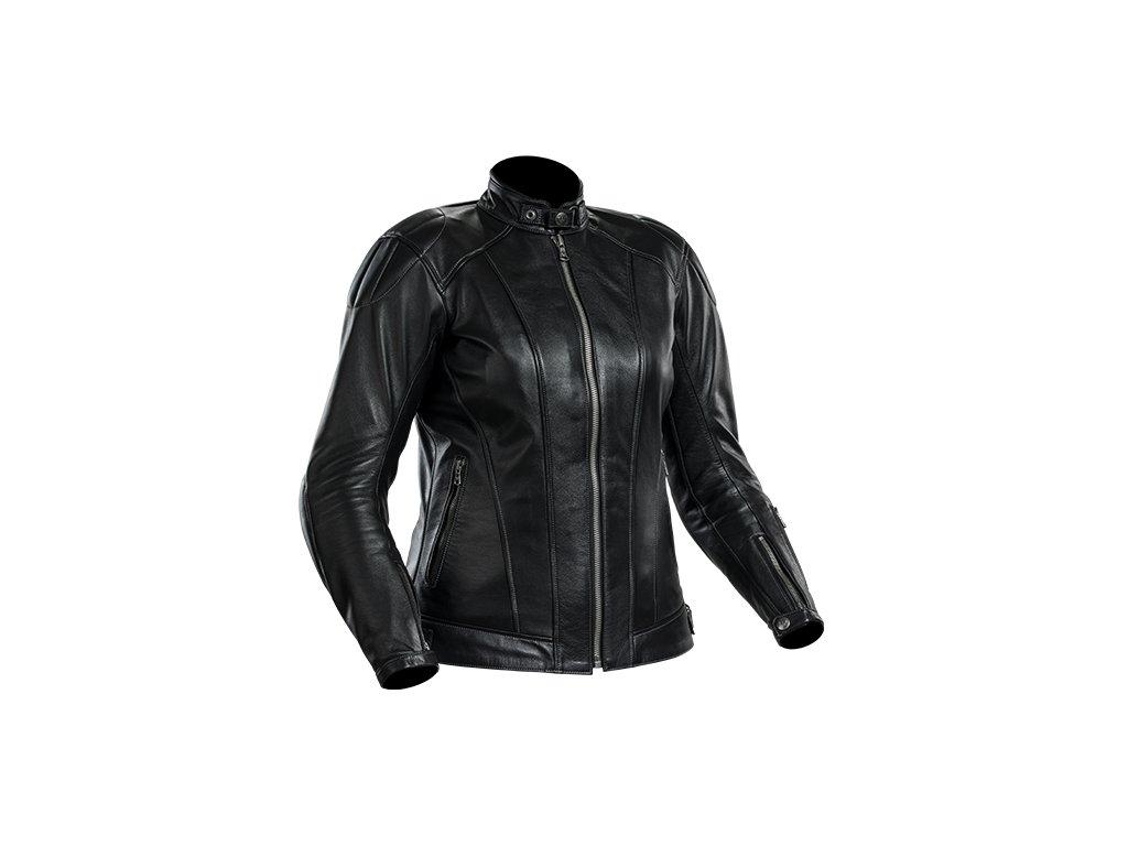 Kožená bunda na motorku FINE LADY dámská černá