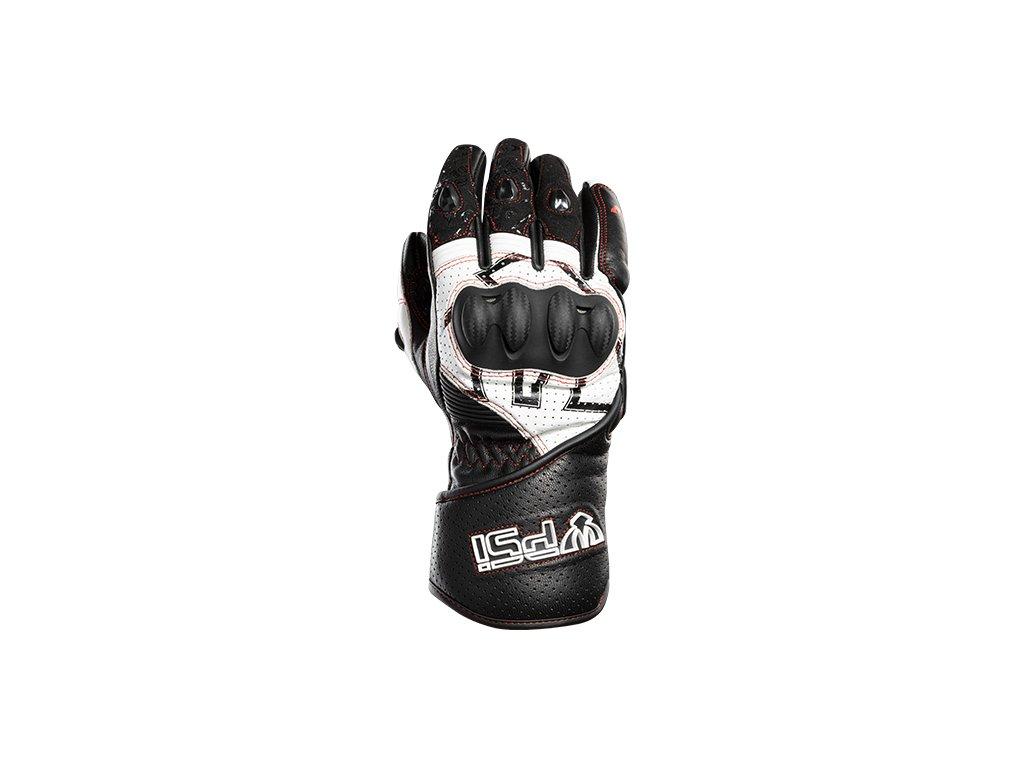 Kožené rukavice PSí TERAMO černá/bílá/červená